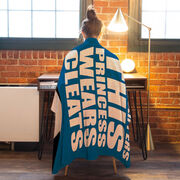 Soccer Premium Blanket - Forget Glass Slippers This Princess Wears Cleats