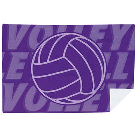Volleyball Premium Blanket - Ball with Word