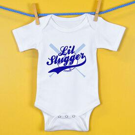 Softball Baby One-Piece Lil Slugger Boy