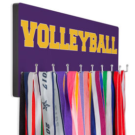 Volleyball Hooked on Medals Hanger - Word
