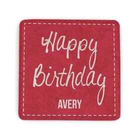 Personalized Stone Coaster - Happy Birthday