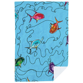 Fly Fishing Premium Blanket - Feeding Frenzy