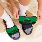 Wrestling Repwell® Slide Sandals - Team Name Colorblock