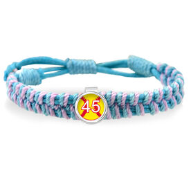 Softball Your Number Adjustable Woven SportSNAPS Bracelet