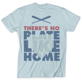 Vintage Baseball T-Shirt - There's No Plate Like Home