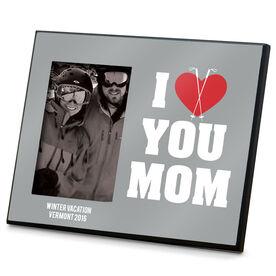 Skiing Photo Frame I Heart You Mom Ski
