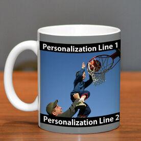 Basketball Coffee Mug Custom Photo with Color