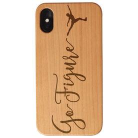 Figure Skating Engraved Wood IPhone® Case - Go Figure