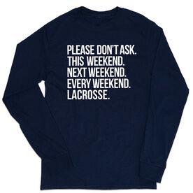 Lacrosse Tshirt Long Sleeve - All Weekend Lacrosse