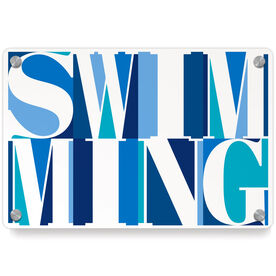 Swimming Metal Wall Art Panel - Swimming Mosaic