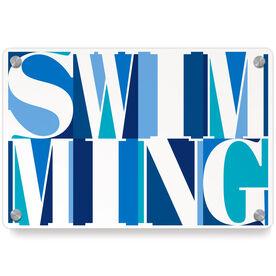 Swimming Metal Wall Art Panel - Swimming Mosaic