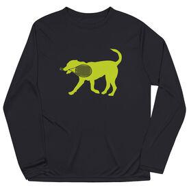 Tennis Long Sleeve Tech Tee - Dennis The Tennis Dog