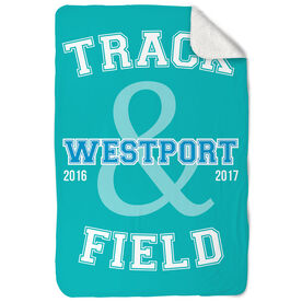Track and Field Sherpa Fleece Blanket Track and Field Team