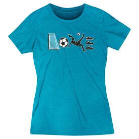 Soccer Women's Everyday Tee - Soccer Love