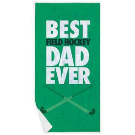 Field Hockey Premium Beach Towel - Best Dad Ever