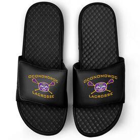 Black Slide Sandals - Oconomowoc Lacrosse Logo
