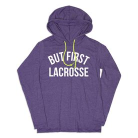 Girls Lacrosse Lightweight Hoodie - But First Lacrosse