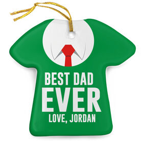 Personalized Porcelain Ornament - Best Dad Ever Sweater