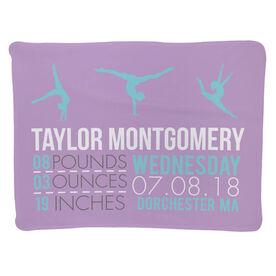 Gymnastics Baby Blanket - Birth Announcement