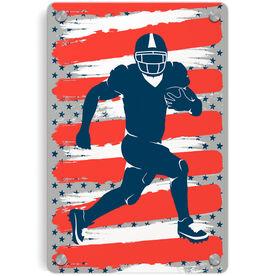 Football Metal Wall Art Panel - USA Football