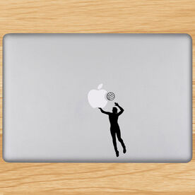 Volleyball Player Spiking Removable ChalkTalkGraphix Laptop Decal