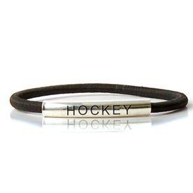 SportEXPRESSION Sterling Silver Tube Bracelet - HOCKEY