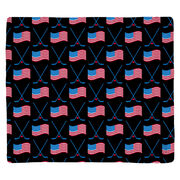 Hockey Multifunctional Headwear - Crossed Sticks and USA Flag Pattern RokBAND