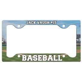 Custom Baseball Player License Plate Holders