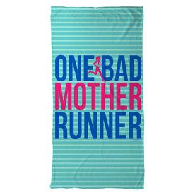 Running Beach Towel One Bad Mother Runner