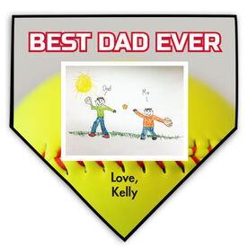 Softball Home Plate Plaque Your Artwork With Softball Background