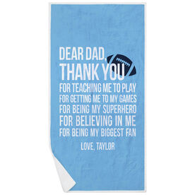 Football Premium Beach Towel - Dear Dad