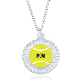 Tennis Braided Circle Necklace - Ball With Mom