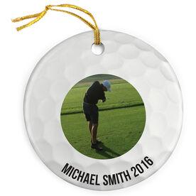 Golf Porcelain Ornament Ball Custom Photo