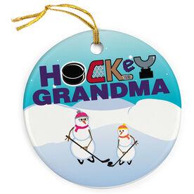 Hockey Porcelain Ornament Grandma