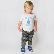 Personalized Baby T-Shirt - Hello I'm (Age) Today