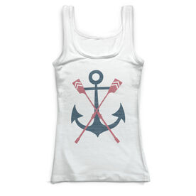 Crew Vintage Fitted Tank Top - Anchor And Oars