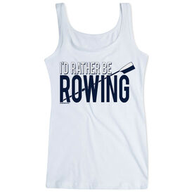 Crew Women's Athletic Tank Top I'd Rather Be Rowing