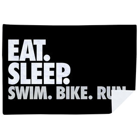 Triathlon Premium Blanket - Eat. Sleep. Swim. Bike. Run. Horizontal