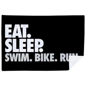 Triathlon Premium Blanket - Eat. Sleep. Swim. Bike. Run. Horizontal