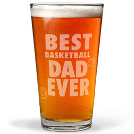 16 oz. Beer Pint Glass Best Basketball Dad Ever