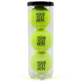 Custom Text Tennis Ball (3 Pack in Can)