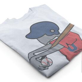 Vintage Baseball T-Shirt - Zombie Player