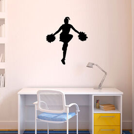 Cheerleader Removable ChalkTalkGraphix Wall Decal