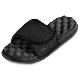 PR SOLES® Premier Adjustable Strap Recovery Slide Sandals (BLACK)