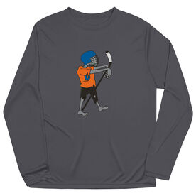 Hockey Long Sleeve Performance Tee - Hockey Zombie