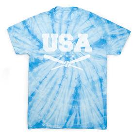 Baseball Short Sleeve T-Shirt - USA Baseball Tie Dye