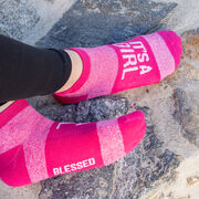 Socrates® Woven Performance Sock - It's a Girl