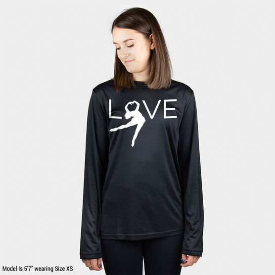 Figure Skating Long Sleeve Performance Tee - Love