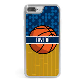 Basketball iPhone® Case - Personalized 2 Tier Patterns with Basketball
