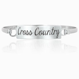 Cross Country Engraved Clasp Bracelet Cross Country